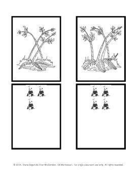 Bamboo Counting - Montessori Style