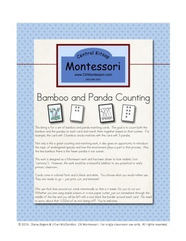 Bamboo Counting - Montessori Style