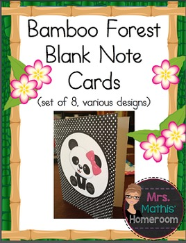 Bamboo Forest (Panda Theme) Blank Note Cards