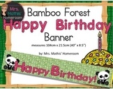 "Bamboo Forest (Panda Theme) Happy Birthday Banners (40""x8.5"")"
