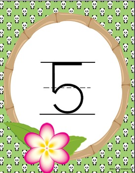 Bamboo Forest (Panda Theme) Number Line Posters