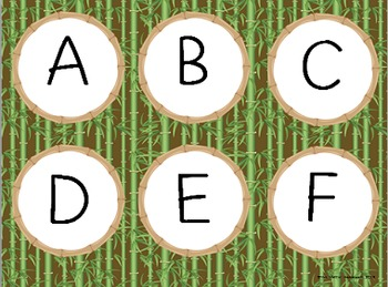 Bamboo Forest (Panda Theme) Word Wall Essentials