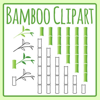 Bamboo Sections / Plants Clip Art Set fo Commercial Use