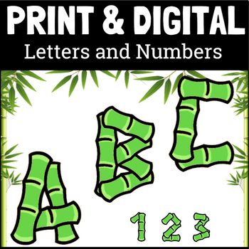 Bamboo Style Letters and Numbers