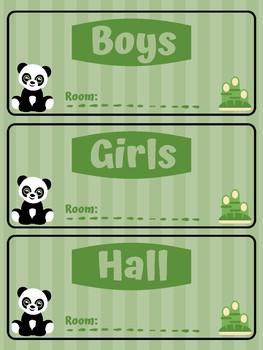 Bamboo and Panda Themed Passes