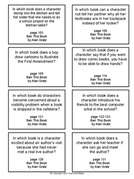 Ban This Book - Over 100  EBOB Questions