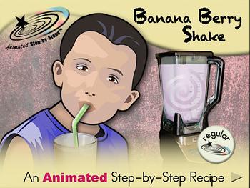 Banana-Berry Milkshake - Animated Step-by-Step Recipe