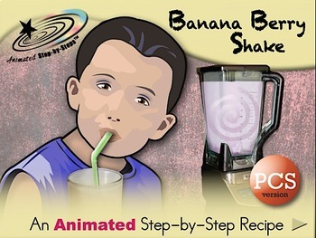 Banana-Berry Milkshake - Animated Step-by-Step Recipe PCS