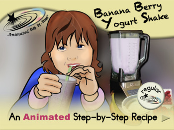Banana Berry Yogurt Shake - Animated Step-by-Step Recipe