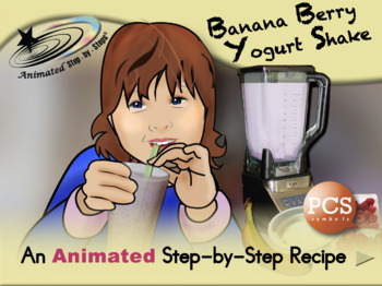 Banana Berry Yogurt Shake - Animated Step-by-Step Recipe P