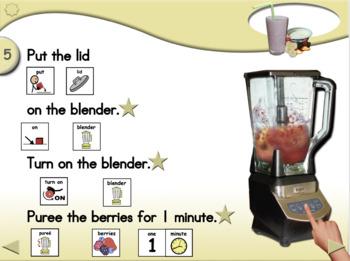 Banana Berry Yogurt Shake - Animated Step-by-Step Recipe SymbolStix
