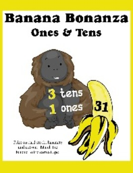 Banana Bonanza - Match Place Values of Ones and Tens - Very Cute Curriculum