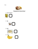 Banana Bread shopping list