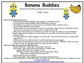 Banana Buddies {Half Note}  {Music: Rhythm Concept Game}
