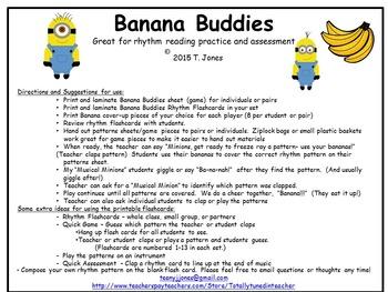 Banana Buddies {Quarter Rest}  {Music: Rhythm Concept Game}