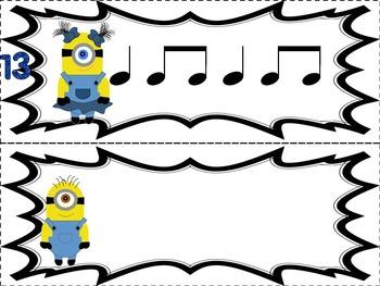 Banana Buddies {Quarter and Eighth Notes}  {Music: Rhythm Concept Game}