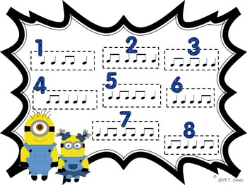 Banana Buddies {Quarter and Eighth Notes}  {Music: Rhythm Concept Game}