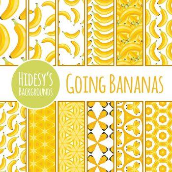 Banana Digital Paper / Backgrounds Clip Art Set Commercial Use