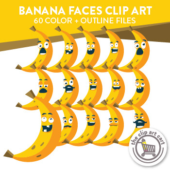 Banana Faces Clip Art