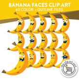 Banana Faces Clip Art
