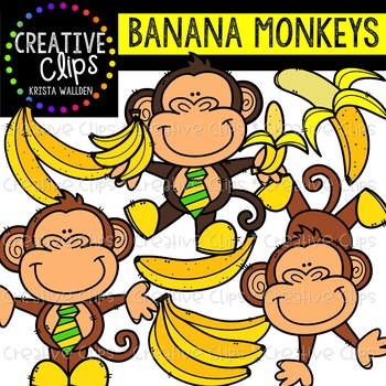 Banana Monkeys {Creative Clips Clipart}