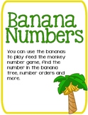 Banana Number Cards