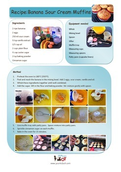 Banana Sour Cream Muffins Recipe with visual photo sequence