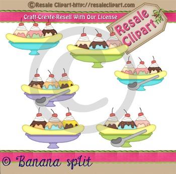 Banana Split Clipart