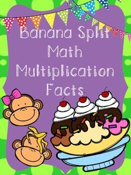 Banana Split Math Multiplication Facts