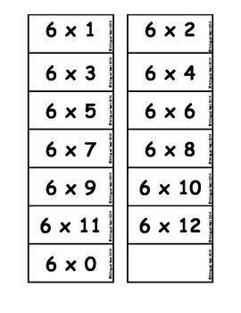 Multiplication Facts - Banana Split - in Spanish