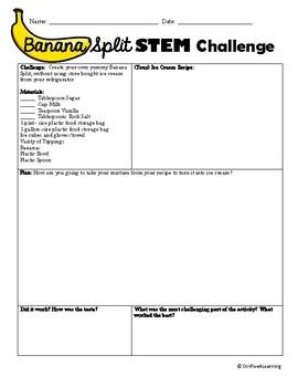 Banana Split STEM Challenge