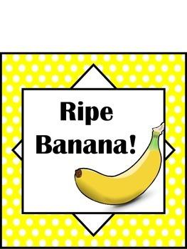 Banana Themed Behavior Clip Chart (5 levels)