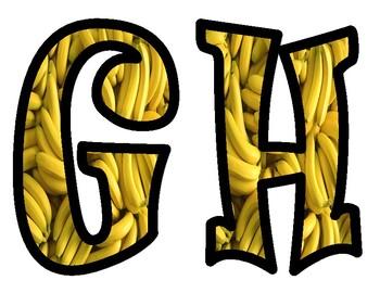 Bananas Bulletin Board Alphabet Letters