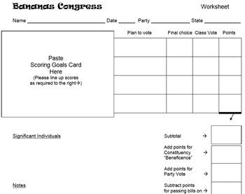Bananas Congress - Full Classroom Simulation of the US Congress