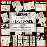 First Grade Grammar Centers for February