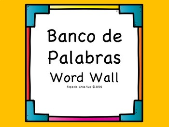 Banco de palabras / Word Wall