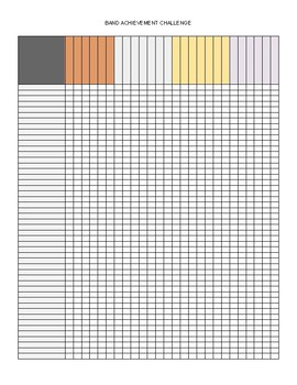 Band Achievement Challenge Progression Chart