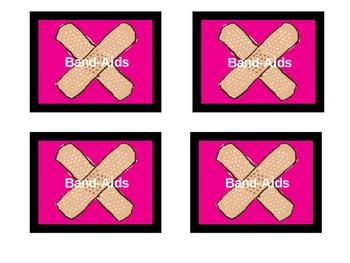 Band-Aid Box Labels