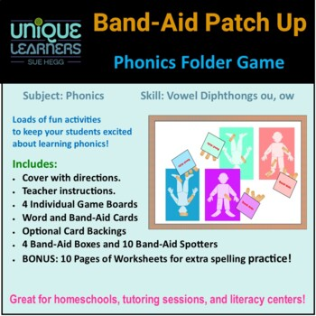 Band-Aid Patch Up -- Phonics Vowel Diphthongs ou, ow