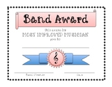 Band Awards - Great for end of the year!