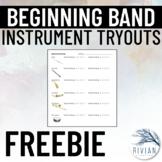 Band Beginner Sheet