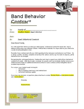 Band Behavior Contract