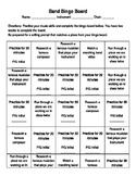 Band Bingo Board (Band Practice Log)