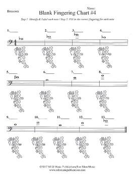 Band Blank Fingering Chart #4