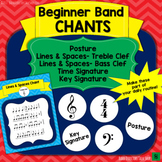 Band Chants  (Posture, Lines & Spaces, Time Signature, Key