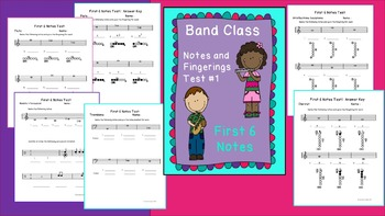 Band Class Notes and Fingerings Test #1