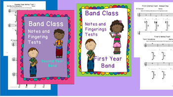 Band Class Notes and Fingerings Test Bundle