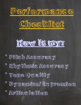 Band Class Performance Checklist