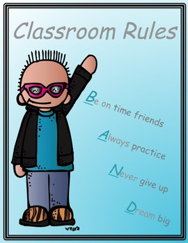 Band Class Rules Poster