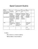 Band Concert Rubric